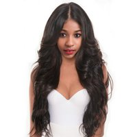 Wholesale Synthetic Swiss Lace Wig - Body Wave Full Lace Human Hair Wigs For Women Brazilian Human Hair Full Lace Frontal Wigs With Baby Hair Natural Black