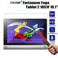 dureza de la tableta al por mayor-XSKEMP Anti-Explosion protector de pantalla para Lenovo Yoga Tablet 2 1051