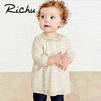 Wholesale Top Clothing Wholesaler China - Richu tops blouse button down casual checked clothes the baby blouses for girls autumn 2018 SPRING clothing for girls Made In China factory
