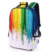 çanta tuval 3d toptan satış-Şık Graffiti Kadın Erkek Sırt Çantası 3D Galaxy Seyahat Satchel Sırt Çantası Bagpack Öğrenciler Tuval Okul Çantası Bookbag Kese Dos Ecole