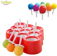 Wholesale plastic ball hole resale online - Designs Holes Round Ball Ice Mold plastic Lip Shape Tube Maker Mold Rectangle Bar Drink Silicone Ice Pops Mold Ice Cream Ball