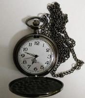Wholesale Necklace Pocket Watches - Wholesale 200pcs lot Mix 3Colors Quartz watches Necklace Chain Bronze pocket watches