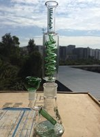 Wholesale Condenser Coils - New Arrival Build A Bong includes 3 Accesories Thick Glass Bong with Quintuple Condenser Coil Beaker Base Water Pipe Different Pattern ILL01