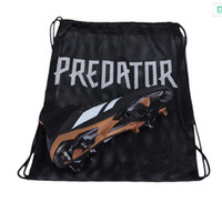 Wholesale cheap sports bag - 2018 New Shoe Bag Predator Tango 18 18.3 Black Soccer Shoes Sports Bag Mercurial 12 Superfly Football Boots Orange Sack for Cheap Sale