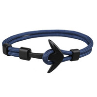 handmade paracord pulseiras venda por atacado-Novo Estilo Melhor Moda Mens e Womens Handmade Paracord Pulseira Âncora Pulseira De Tecido Colorido para Venda
