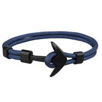 ingrosso braccialetti di modo migliori-Nuovo stile migliore moda Mens e Womens Handmade Paracord Anchor Bracciale Braccialetto tessuto colorato per la vendita