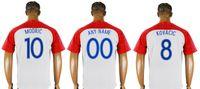mens thai futbol formaları toptan satış-2018 Dünya Yeni Mens # 4 Ivan Perisic 7 Ivan Rakitic 10 Luka Modric Futbol Gömlek Takım Ev Tay Kaliteli Spor Pro Özel Futbol Formalar
