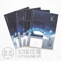Wholesale korean stationery paper envelopes - Wholesale- 9pcs Set 3 envelopes + 6 writting paper Creative Sea illustration Envelope For Gift Korean Stationery