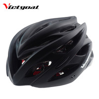Wholesale mountain bike women helmets - Victgoal Matte Black Bicycle Helmets Men Women Ultralight Helmet Mountain Road Bike Integrally Molded Cycling Helmets K1104