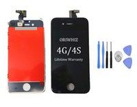 ingrosso telaio di montaggio lcd 4s-Sostituzione dello schermo + set di strumenti di riparazione per iPhone LCD con cornice per iPhone 4 4S LCD CDMA GSM per display display Digitizer schermo per iPhone 4