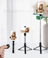 selfie stick для заметки оптовых-Selfie Stick Bluetooth, выдвижная штатив Selfie Stick с беспроводным пультом дистанционного управления для смартфонов iOS, Android Galaxy S9 / S9 Plus / S8 / S8 Plus / S7 / Note