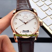 Wholesale big band mens watches for sale - Group buy New TONDA QF PFC222 HA1431 White Big Date Dial Three needles Automatic Mens Watch Rose Gold Case Leather Band Casual Watches