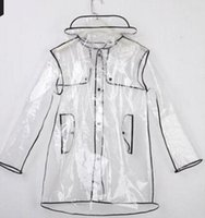 Wholesale Fashion Slim PVC Polyester Raincoat Special Sale Waterproof Breathable Reflective Adult Raincoat