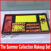 Wholesale summer lipsticks for sale - Group buy New Makeup Set Limited Edition Summer Collection Bundle Cosmteics Lip Gloss Liquid Lipstick Lipliner color eyeshadow