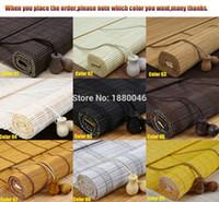 ingrosso finestre di bambù-Commercio all'ingrosso Window Roller Blind Bamboo Tende avvolgibili tonalità bambù tonalità nere per windows