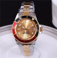 handgolduhren für männer großhandel-Casual Herrenuhr Luxusmarke aaa Uhr Edelstahl Damenuhr Design Multicolor einzigartige Mode Herrenuhr für Damen.