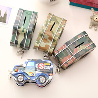 Wholesale candy box cars - Car Shape Money Box Durable Money Storage Saving Boxes Anti Wear Coin Piggy Bank For Kids Birthday Gifts Hot Sale 2 7xk Z