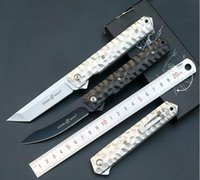 Wholesale Good Quality Survival Knives - Good quality C81 Pocket Folding Knife 5Cr13 G10   Aluminum Tactical Survival Camping C194 EDC Knives Outdoor Utility Multi Rescue TooL