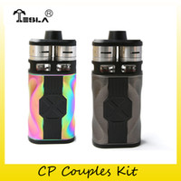 Wholesale couples kit - Authentic Tesla CP Couples Kit 220W 2x 18650 Battery Box Mod For Original Teslacigs CP Couples RDTA 100% Genuine 2212176