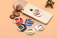 niedliche telefonhalter großhandel-Ring Handyhalter Einzigartige Mix Stil Handyhalter Niedlichen Cartoon Katze Bär Metall Handset Ring Bracket