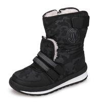 3.5 verschluss großhandel-2018 neue Kindermode Stiefel Seitenreißverschluss Kinder Schuhe warme und bequeme Jungen Mädchen Stiefel für eur Größe 30 # -38 #