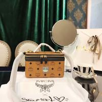 2b5f0f5aae 2018 Luxury famous brand designer Handbags handbag Cosmetic Bags trunk case  box Shoulder Bag Cross-body Bags 20*10*12CM Purses D5268