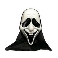plastik iskelet kafatası toptan satış-Cadılar bayramı Kafa Maskesi Plastik Kafatası Maskesi Iskelet Hayalet Maskeleri Cadılar Bayramı Cosplay Kostüm Için