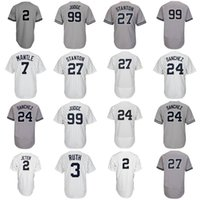 Wholesale Manning S - New York 99 Aaron Judge Jersey 27 Giancarlo Stanton 2 Derek Jeter 24 Gary Sanchez 7 Mickey Mantle 3 Babe Ruth Baseball Jerseys