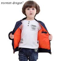 Wholesale ma year - 2018 Thick Winter 2-12 years old Kids bomber flight jacket ma-1 pilot baby boys padded kids child baseball puffer coat