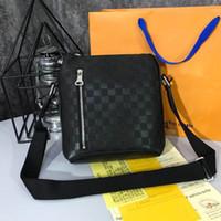 Wholesale male messenger bag resale online - 2018 New Fashion Brand Men Bag Briefcase Casual Business Genuine Leather Mens Messenger Bag Vintage Men s Crossbody Bag Bolsas Male Wallets