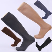 Wholesale travel compression socks resale online - Compression Socks BEST Athletic Medical for Men Women Running Flight Travel Boost Blood Circulation Recovery FBA Drop Shipping G462Q