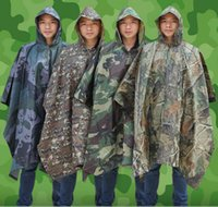 Wholesale poncho for summer online - Outdoor Tactical Raincoat waterproof for cycling riding camping Hunting raincoat environmental men women s Hiking raincover MMA816
