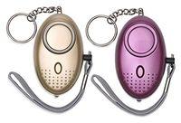 alarme de segurança para crianças venda por atacado-Alarme pessoal para mulheres 130db alarme de segurança de auto-defesa de emergência chaveiro com luz led para mulheres crianças e idosos