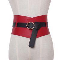 ingrosso cintura di stirata verde-New Fashion Womens cinghie larghe in metallo Doppia fibbia Elastico in vita Cintura ampia corsetto tratto accessori abito
