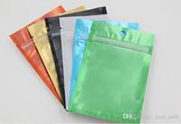 ingrosso zip borse-Borsa laterale in mylar con zip risigillabile di colore chiaro trasparente Borse in fogli di alluminio Borse a prova di odore Borsa per gioielli