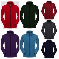 Wholesale polar jacket outdoor - Fleece jacket Sherpa Pullover women Cardigan solid Polar Fleece Coat zipper thick sweater Outdoor leisure Sports top Sweatshirts GGA1008