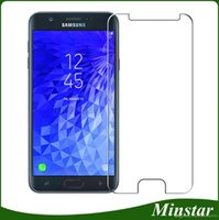 Wholesale basic pcs - Newest Basic Tempered Glass for Samsung Galaxy J3 Achieve Star 2018 J337 J7 Refine Crown J737 Boost Mobile Metro PCS Clear Screen Protector