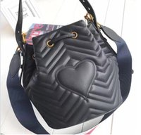 Wholesale ladies quilted shoulder bags - Fashion Italy Women Quilted leather Crossbody bag Ladies Plaid Handbag Shoulder Bucket bag Messenger Bag