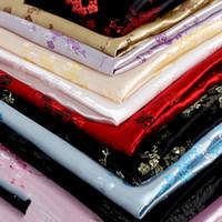 ingrosso fiore di prugna cinese-Han Tang Abbigliamento cinese Costume COS Kimono Dress Abbigliamento per neonati Couture Tessuti damascati Silk Brocade Plum Blossom Series 90cm Wide