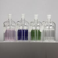 verre soufflé vert achat en gros de-Capteur de cendres en verre percé à joint large de 14 mm et 18 mm en verre soufflé