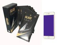 voller blauer film großhandel-Anti Blue Ray Ausgeglichenes Glas-Schirm-Schutz für iPhone 11ProMax Voll Kleber Schirm-Film für iPhone X87 Randloser Coverage Papierpaket