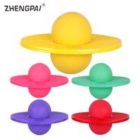 прыгающие мячи для взрослых оптовых-ZHENGPAI  Bouncing Jumping Ball PVC Inflatable Fitness Slimming Ball Children Adult Sport Exercise Equipment