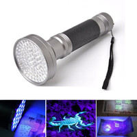 Wholesale uv flashlight scorpion for sale - Group buy Black Silver nm LED UV Flashlight Blacklight Scorpion Super Bright Detection Flashlight Torch Portable Violet Light Money Detector