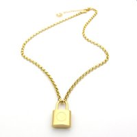 Wholesale titanium chain necklace for men - New 316L titanium steel jewelry necklace necklace 18K gold rough necklace for men and women couple gift
