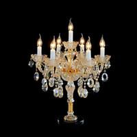 Wholesale bedding room wedding for sale - Group buy Candle Crystal Light Simple Wedding Room European Table Lamp Luxury Living Room Bedroom Bedside Creative Study Desk Lamp