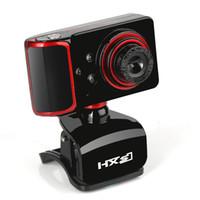 webcam hd de china al por mayor-HXSJ marca 16M Pixel por rotación ajustada cámara web HD Clip-on 3 LED cámara web webcam USB con cámara web Mic para Android TV Computer