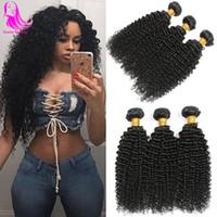 moğol insan saçı inç toptan satış-Malezya Afro Kinkys Kıvırcık Saç 4 Paketler Siyah Kadınlar için Malaisienne Malezya İnsan Saç Dokuma Atkı Moğol Sıkı Kinky Kıvırcık Işm ...