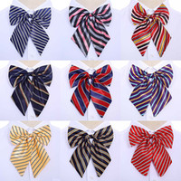 ingrosso cravatte di seta coreane-Bow Ties Hostess Coreano Cravatta Farfalla di alta qualità 1PC Bowties Neck Wear Accessori Donna Vintage 2018 New Silk Striped