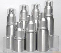 Wholesale wholesale treatment pumps - 20ml 30ml 50ml aluminum Empty refillable Airless Lotion Treatment Pump Cosmetic Dispensing Bottles lotions, liquid bott