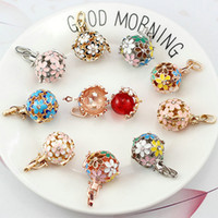 DIY Flower Pearl Necklace Settings Fashion Gem Beads Locket Cages Pendants Jewelry Settings 16 Styles DIY Pearl Necklace Charm Mountings